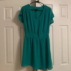 Teal mid-length dress by Mango